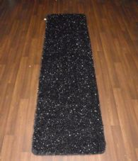 Romany Washables Runner/Mats 60x220cm Aprox 7ft Sparkle Black/Silver Non Slip
